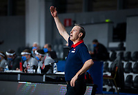 22nd February 2021, Podgorica, Montenegro; Eurobasket International Basketball qualification for the 2022 European Championships, England versus France;  Vincent Collet, French manager