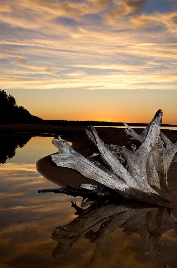 A summer sunset on Lake Superior.