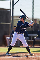 San Diego Padres outfielder Jack Suwinski (8) at bat during an Instructional League game against the Milwaukee Brewers on September 27, 2017 at Peoria Sports Complex in Peoria, Arizona. (Zachary Lucy/Four Seam Images)