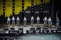 Team Intermarché-Wanty- Gobert Matériaux at the pre Tour teams presentation of the 108th Tour de France 2021 in Brest at le Grand Départ.