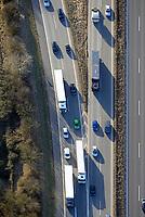 Autobahn Einfaedelung: EUROPA, DEUTSCHLAND, HAMBURG, (EUROPE, GERMANY), 10.03.2017: Autobahn Einfaedelung  BAB A1