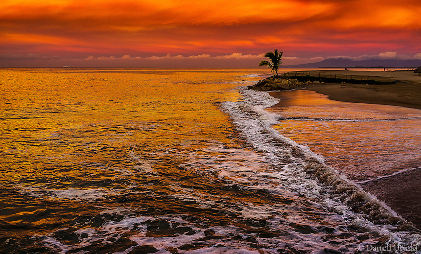 Fine Art Scenic of a dramatic sunset on the Pacific ocean near Puerto Vallarta, Mexico.<br />