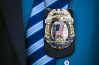A Pentagon police badge honors the 20th anniversary of 9/11 at the Pentagon in Arlington, Virginia, September 11, 2021. <br /> CAP/MPI/RS<br /> ©RS/MPI/Capital Pictures