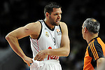 Real Madrid´s Felipe Reyes during 2014-15 Euroleague Basketball Playoffs second match between Real Madrid and Anadolu Efes at Palacio de los Deportes stadium in Madrid, Spain. April 17, 2015. (ALTERPHOTOS/Luis Fernandez)