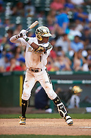 Delvin Perez (1) of International Baseball Academy in Loiza, Puerto Rico during the Under Armour All-American Game on August 15, 2015 at Wrigley Field in Chicago, Illinois. (Mike Janes/Four Seam Images)