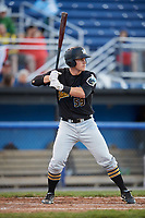 West Virginia Black Bears designated hitter Lucas Tancas (59) at bat during a game against the Batavia Muckdogs on June 26, 2017 at Dwyer Stadium in Batavia, New York.  Batavia defeated West Virginia 1-0 in ten innings.  (Mike Janes/Four Seam Images)