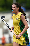 GER - Mannheim, Germany, May 24: During the U16 Girls match between Australia (green) and Germany (white) during the international witsun tournament on May 24, 2015 at Mannheimer HC in Mannheim, Germany. Final score 0-6 (0-3). (Photo by Dirk Markgraf / www.265-images.com) *** Local caption *** Annie Gibbs #13 of Australia