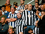 Unhappy Newcastle fans after seeing their side pegged back at 2-2. Newcastle v West Ham, August 15th 2021. The first game of the season, and the first time fans were allowed into St James Park since the Coronavirus pandemic. 50,673 people watched West Ham come from behind twice to secure a 2-4 win.
