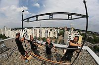 24.07.2015: Vorbereitung zum Rüsselsheimer Fassadenlauf