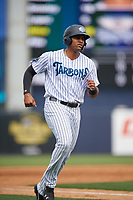 Tampa Tarpons Dermis Garcia (40) during a Florida State League game against the Lakeland Flying Tigers on April 7, 2019 at George M. Steinbrenner Field in Tampa, Florida.  Tampa defeated Lakeland 3-2.  (Mike Janes/Four Seam Images)