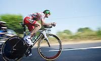 Pierre Rolland (FRA)<br /> <br /> Tour de France 2013<br /> stage 11: iTT Avranches - Mont Saint-Michel <br /> 33km