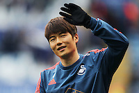 Ki Sung-Yueng of Swansea City before the Barclays Premier League match between Leicester City and Swansea City played at The King Power Stadium, Leicester on April 24th 2016