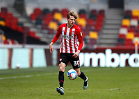 14th February 2021; Brentford Community Stadium, London, England; English Football League Championship Football, Brentford FC versus Barnsley; Mads Roerslev of Brentford