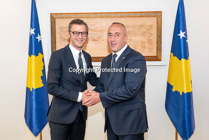Trip tp KOSOVO<br /> <br /> Ramush Haradinaj<br /> Meeting prime minister of Kosovo at his office in Pristina