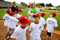 Young fans on the field during the 2008 Charlotte Knights season. ..