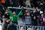 VfL Borussia Monchengladbach's supporters during Champions League match between Futbol Club Barcelona and VfL Borussia Mönchengladbach  at Camp Nou Stadium in Barcelona , Spain. December 06, 2016. (ALTERPHOTOS/Rodrigo Jimenez)
