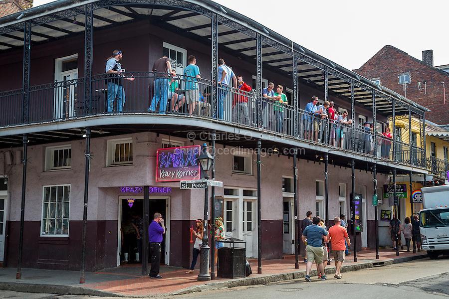 French Quarter, New Orleans, Louisiana.  Krazy Korner Nightclub, Corner of St. Peter and Bourbon Streets.