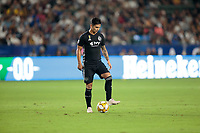 CARSON, CA - SEPTEMBER 15: Felipe Gutierrez #21 of Sporting Kansas City moves with the ball during a game between Sporting Kansas City and Los Angeles Galaxy at Dignity Health Sports Complex on September 15, 2019 in Carson, California.
