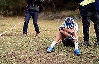 CX World Champion Ceylin del Carmen Alvarado (NED/Alpecin-Fenix) needing to recuperate after finishing this brutal race<br /> <br /> Koppenbergcross 2020 (BEL)<br /> women's race<br /> <br /> ©kramon