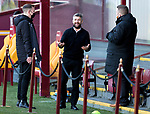 Motherwell v St Johnstone…28.11.20   Fir Park      BetFred Cup<br />Motherwell manager Stephen Robinson pictured talking before kick off<br />Picture by Graeme Hart.<br />Copyright Perthshire Picture Agency<br />Tel: 01738 623350  Mobile: 07990 594431