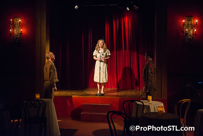 Cafe Chanson presented by Upstream Theater at Kranzberg Arts Center in St. Louis, MO on Jan 9, 2013.