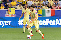 Harrison, NJ - Wednesday July 06, 2016: Jose Daniel Guerrero during a friendly match between the New York Red Bulls and Club America at Red Bull Arena.
