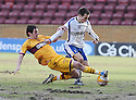 27/02/2010  Copyright  Pic : James Stewart.sct_jspa04_motherwell_v_kilmarnock  .::  GARRY HAY IS CHALLENGED BY LUKAS JUTKIEWICZ :: .James Stewart Photography 19 Carronlea Drive, Falkirk. FK2 8DN      Vat Reg No. 607 6932 25.Telephone      : +44 (0)1324 570291 .Mobile              : +44 (0)7721 416997.E-mail  :  jim@jspa.co.uk.If you require further information then contact Jim Stewart on any of the numbers above.........