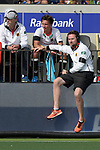 NED - Amsterdam, Netherlands, August 20: During the men Pool B group match between Germany (white) and Ireland (green) at the Rabo EuroHockey Championships 2017 August 20, 2017 at Wagener Stadium in Amsterdam, Netherlands. Final score 1-1. (Photo by Dirk Markgraf / www.265-images.com) *** Local caption *** head coach Stefan Kermas of Germany