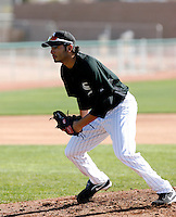 Jeff Marquez   -  Chicago White Sox - 2009 spring training.Photo by:  Bill Mitchell/Four Seam Images