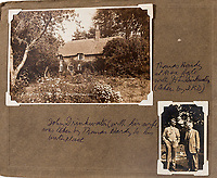 BNPS.co.uk (01202 558833)<br /> Pic: ForumAuctions/BNPS<br /> <br /> L-r: Hardys birthplace, Drinkwater with the famous old author at Max Gate.<br /> <br /> Extraordinary photo album reveals Thomas Hardy as personal tour guide around his most famous novel.<br /> <br /> A personalised photograph album documenting a guided tour of 'Casterbridge' that novelist Thomas Hardy gave a literary friend has emerged almost 100 years later.<br /> <br /> The famous author showed playwright John Drinkwater the real-life locations that inspired him to write the classic 1886 novel The Mayor of Casterbridge.<br /> <br /> Mr Drinkwater took photographs of various venues that feature prominently in the novel.<br /> <br /> He also captured some of the last images of Hardy who died two years later.