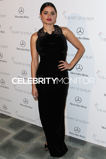LOS ANGELES, CA - JANUARY 11: Melonie Diaz at The Art of Elysium's 7th Annual Heaven Gala held at Skirball Cultural Center on January 11, 2014 in Los Angeles, California. (Photo by Xavier Collin/Celebrity Monitor)