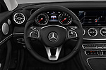 Car pictures of steering wheel view of a 2018 Mercedes Benz E-Class E400 2 Door Coupe