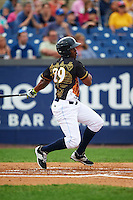 Wilmington Blue Rocks right fielder Elier Hernandez (29) at bat during a game against the Lynchburg Hillcats on June 3, 2016 at Judy Johnson Field at Daniel S. Frawley Stadium in Wilmington, Delaware.  Lynchburg defeated Wilmington 16-11 in ten innings.  (Mike Janes/Four Seam Images)