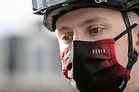 Tadej Pogačar (SVN/UAE-Emirates) at the race start in LIège<br /> <br /> 107th Liège-Bastogne-Liège 2021 (1.UWT)<br /> 1 day race from Liège to Liège (259km)<br /> <br /> ©kramon