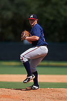 Atlanta Braves pitcher Grayson Jones (75) during an instructional league game against the Toronto Blue Jays on September 30, 2015 at the ESPN Wide World of Sports Complex in Orlando, Florida.  (Mike Janes/Four Seam Images)