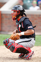 August 8, 2009:  Catcher Alex Lavisky (14) of the Baseball Factory team during the Under Armour All-America event at Wrigley Field in Chicago, IL.  Photo By Mike Janes/Four Seam Images