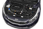 Car Stock 2014 KIA cee'd Access 5 Door Wagon 2WD Engine high angle detail view