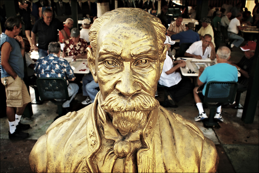 """General Maximo Gomez and his men<br /> From """"Life to waste"""" series<br /> Little Havana, Mar 2011"""