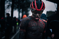 Pim Ronhaar (NED/Pauwels Sauzen-Bingoal) after finishing this muddy race<br /> <br /> UCI cyclo-cross World Cup Dendermonde 2020 (BEL)<br /> <br /> ©kramon