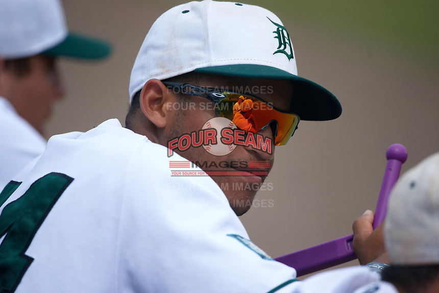 Dartmouth Big Green outfielder Mike Brown (24) during a game against the South Florida Bulls on March 27, 2016 at USF Baseball Stadium in Tampa, Florida.  South Florida defeated Dartmouth 4-0.  (Mike Janes/Four Seam Images)