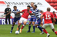 Macauley Bonne of Charlton tries to retain possession of the ball during Charlton Athletic vs Reading, Sky Bet EFL Championship Football at The Valley on 11th July 2020