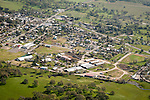 Amador County during spring from the air..Amador County Fairgrounds