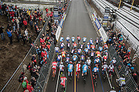 And they're off!!<br /> <br /> Women's Race<br /> UCI 2017 Cyclocross World Championships<br /> <br /> january 2017, Bieles/Luxemburg