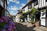 Great Britain, England, East Sussex, Rye: The Mermaid Inn, along Mermaid Street. Medieval Inn rebuilt in 1420