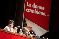 Susanna Camusso<br /> Roma 04/07/2013 Auditorium Parco della Musica. Assemblea delle donne della CGIL. Le donne che cambiano.<br /> Photo Samantha Zucchi Insidefoto