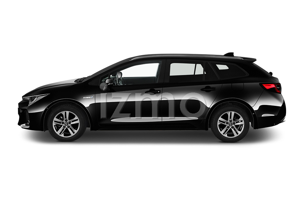 Car Driver side profile view of a 2021 Suzuki Swace GLX 5 Door Wagon Side View