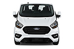 Car photography straight front view of a 2021 Ford Transit-Custom-Kombi Trend 5 Door Combi Front View