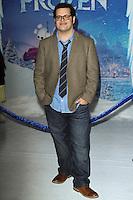 "HOLLYWOOD, CA - NOVEMBER 19: Josh Gad at the World Premiere Of Walt Disney Animation Studios' ""Frozen"" held at the El Capitan Theatre on November 19, 2013 in Hollywood, California. (Photo by David Acosta/Celebrity Monitor)"