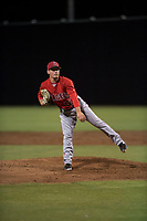 AZL Angels relief pitcher Cody Eckerson (56) follows through on his delivery during an Arizona League game against the AZL Giants Black at the San Francisco Giants Training Complex on July 1, 2018 in Scottsdale, Arizona. The AZL Giants Black defeated the AZL Angels by a score of 4-2. (Zachary Lucy/Four Seam Images)