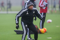 Thursday  21 January 2016<br /> Pictured: Andre Ayew of Swansea <br /> Re: Swansea City Training Session at the Fairwood training ground